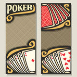 Vector vertical banners for Poker Stock Photography