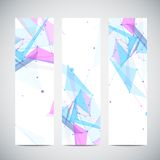 Vector vertical banners set with polygonal Stock Images