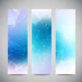 Vector vertical banners set with polygonal Royalty Free Stock Image