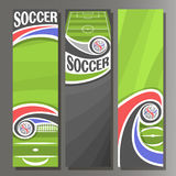 Vector vertical Banners for Soccer Stock Photos