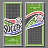 Vector vertical Banners for Soccer Royalty Free Stock Photo
