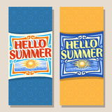 Vector vertical banners for Summer season Stock Photography