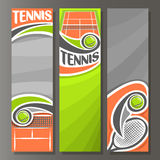 Vector Vertical Banners for Tennis Stock Photo