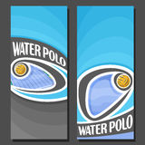 Vector vertical Banners for Water Polo Stock Images