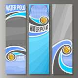 Vector Vertical Banners for Water Polo Royalty Free Stock Photography
