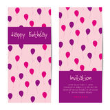 Vector vertical birthday greeting card Stock Image