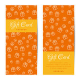 Vector vertical gift cards. Banners, brochures set Royalty Free Stock Photo