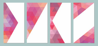 Vector vertical mosaic background Royalty Free Stock Photography