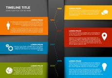 Vector vertical timeline template. Made from colorful papers royalty free illustration