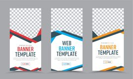 Vector vertical banners design in a place for a photo. Royalty Free Stock Photography