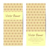 Vector verticale banners Abstract Diamond Pattern Stock Fotografie