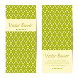 Vector verticale banners Abstract Diamond Pattern Royalty-vrije Stock Foto