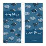 Vector verticale banners met leuke schapen Royalty-vrije Stock Foto's