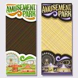 Vector verticale banners voor Pretpark Royalty-vrije Stock Afbeeldingen