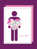 Vector vibrant floral scaterred man in love Royalty Free Stock Images