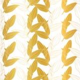 Vector vibrant golden Lilium flower buds seamless repeat pattern
