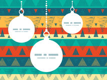 Vector vibrant ikat stripes Christmas ornaments Stock Photos
