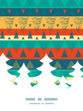 Vector vibrant ikat stripes Christmas tree Royalty Free Stock Photo