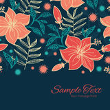 Vector vibrant tropical hibiscus flowers Stock Images