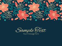 Vector vibrant tropical hibiscus flowers Royalty Free Stock Photos