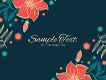 Vector vibrant tropical hibiscus flowers Royalty Free Stock Photo