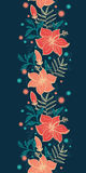 Vector vibrant tropical hibiscus flowers vertical Stock Images