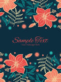 Vector vibrant tropical hibiscus flowers vertical Royalty Free Stock Photo