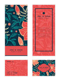Vector vibrant tropical hibiscus flowers vertical Stock Image