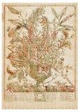 Vector Victoriaans bloemboeket in vaas met tekst Stock Foto