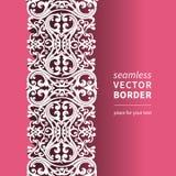 Vector Victoriaanse siergrens in vlakke ontwerpstijl. Stock Afbeeldingen