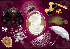 Free Vector Victorian Lady Set Royalty Free Stock Photo - 19435845