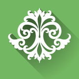 Vector Victorian ornament. Vector Victorian ornament in flat design style. Ornate element for design. Toolkit for designer. It can be used for decorating of Stock Images