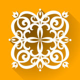 Vector Victorian ornament in flat design style. Ornate element for design. Toolkit for designer. It can be used for decorating of wedding invitations, greeting Stock Image