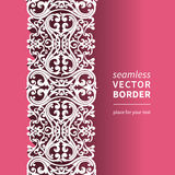 Vector Victorian ornamental border in flat design style. Ornate element for design. Toolkit for designer. It can be used for decorating of wedding invitations Stock Images