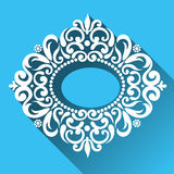Vector Victorian ornamental frame in flat design style. Ornate element for design. Toolkit for designer. It can be used for decorating of wedding invitations Stock Photo