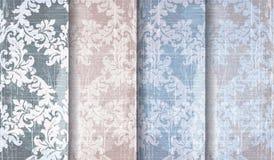 Vector victoriano barroco del sistema del modelo del vintage Decoración del ornamento floral Diseño retro grabado voluta de la te libre illustration