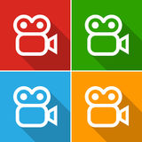 Vector video camera sign or icon, Illustration EPS10 Stock Photo