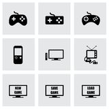 Vector video game icon set Royalty Free Stock Photo