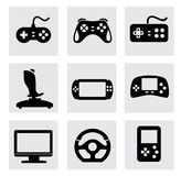 Vector video game and joystick icons set Royalty Free Stock Photo