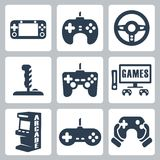 Vector video games icons. Set Stock Photography
