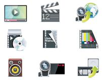 Vector video icons Stock Photos