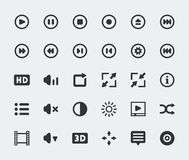 Vector video player icons set Stock Image