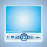 Vector video player interface with glossy buttons Royalty Free Stock Image