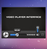 Vector Video Player Interface Royalty Free Stock Images