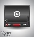 Vector video player Stock Photo