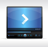Vector Video Player Skin Stock Photo