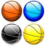 Vector vidrioso del conjunto del baloncesto Fotografía de archivo