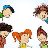 Vector viele Kindergrüße Lizenzfreie Stockbilder