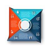 Vector vierkant element voor infographic Royalty-vrije Stock Foto's