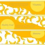 Vector vierkant etiket, banaanjam, saus of sap stock illustratie